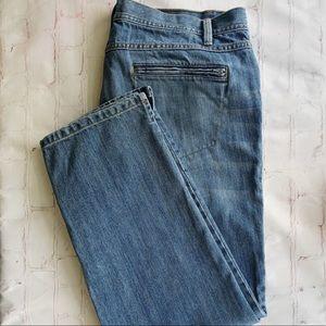 [Talbots] Crop zip pocket light wash plus jean 16